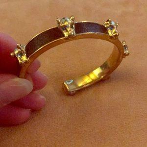 """BCBGMaxAzria Jewelry - BCBG 🐆 7"""" BIG CAT GOLD-TONE & BLACK BRACELET"""